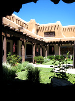 Courtyard, New Mexico Museum of Art
